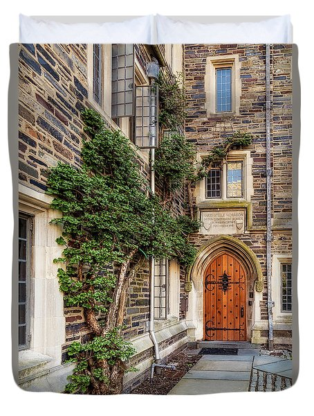 Duvet Cover featuring the photograph Princeton University Foulke Hall II by Susan Candelario