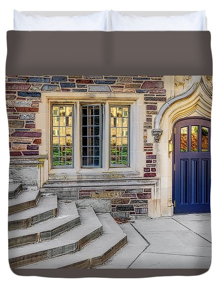 Duvet Cover featuring the photograph Princeton University Lockhart Hall by Susan Candelario