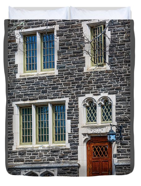 Duvet Cover featuring the photograph Princeton University Patton Hall No 9 by Susan Candelario