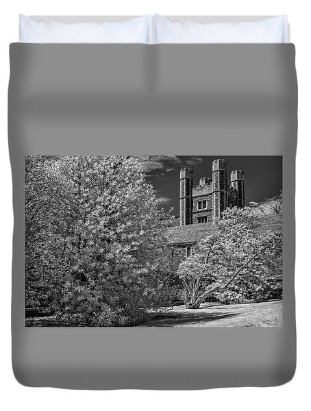 Duvet Cover featuring the photograph Princeton University Buyers Hall by Susan Candelario