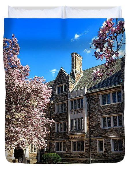 Princeton University Pyne Hall Courtyard Duvet Cover
