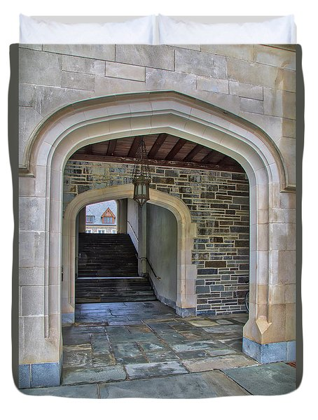 Duvet Cover featuring the photograph Princeton University Whitman College Arches by Susan Candelario