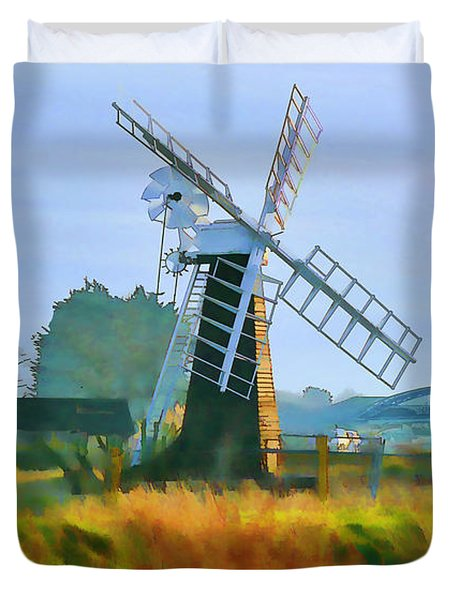 Priory Windmill Duvet Cover