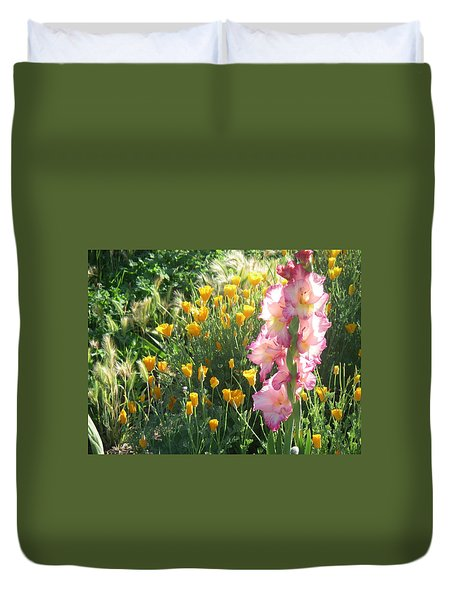 Priscilla With Poppies Duvet Cover