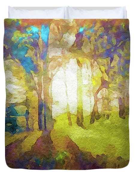 Prismatic Forest Duvet Cover