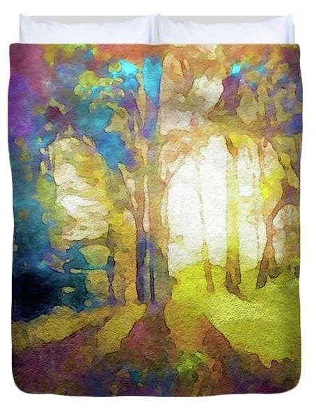 Prismatic Forest Duvet Cover