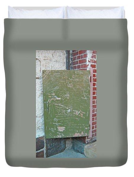 Prison Graffiti 2 Duvet Cover