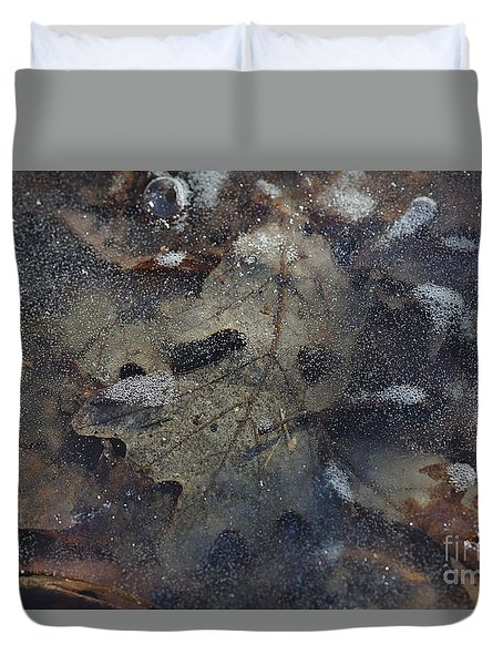 Duvet Cover featuring the photograph Prisoner Of The Ice by Cendrine Marrouat