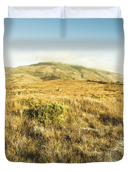 Pristine Mountain Plains Duvet Cover