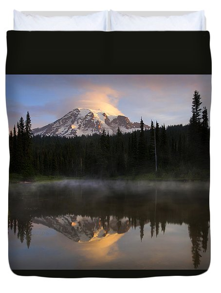 Pristine Reflections Duvet Cover by Mike  Dawson