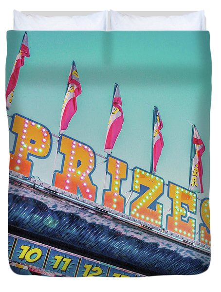 Duvet Cover featuring the photograph Prizes by Cindy Garber Iverson