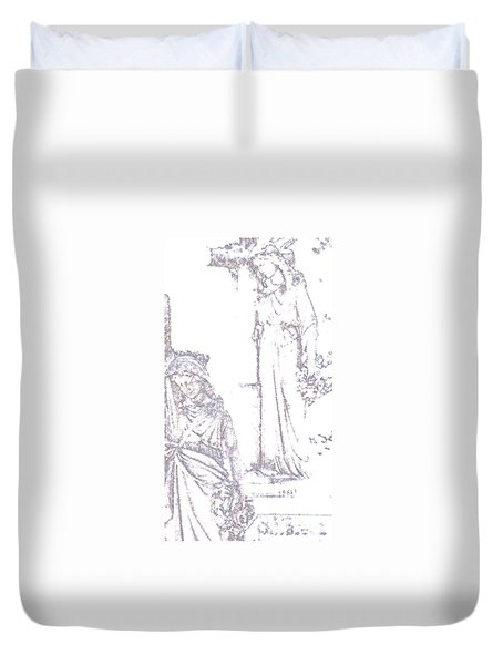 Procession Of Faith 2 Duvet Cover by Linda Shafer