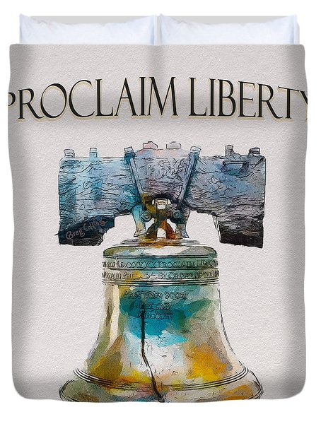 Proclaim Liberty Duvet Cover