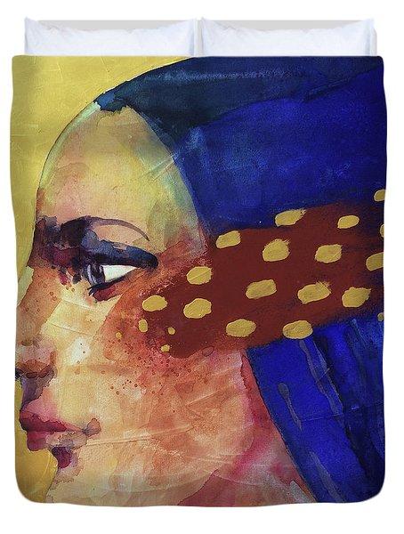 Profilo Di Donna Duvet Cover by Alessandro Andreuccetti