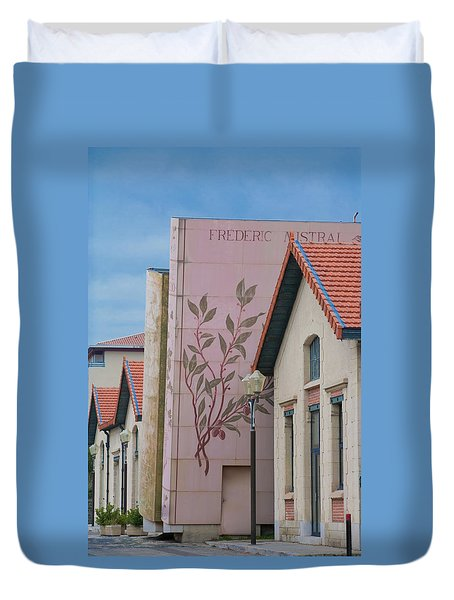 Duvet Cover featuring the photograph Programmatic Architecture by Matthew Bamberg
