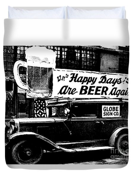 Prohibition Happy Days Are Beer Again Duvet Cover
