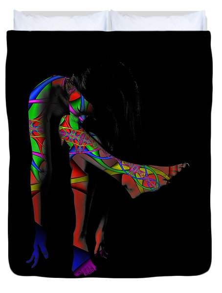 Projected Body Paint 2094973a Duvet Cover