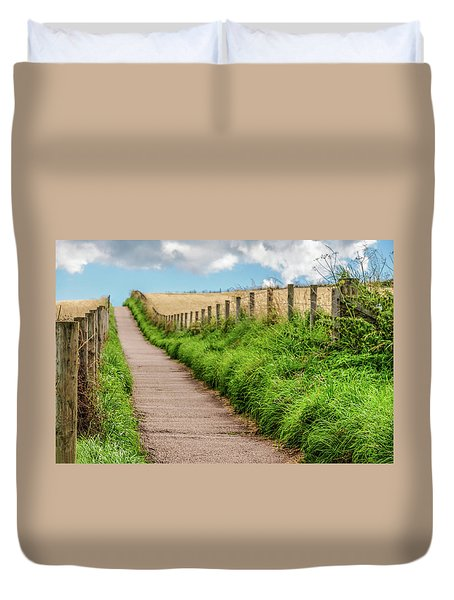 Promenade In Stonehaven Duvet Cover by Sergey Simanovsky