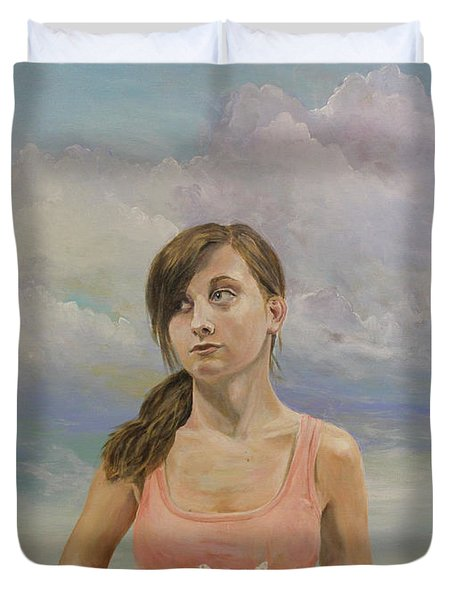 Duvet Cover featuring the painting Promethea by James Andrews