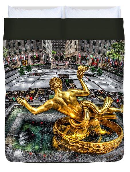 Duvet Cover featuring the photograph Prometheus by Rafael Quirindongo