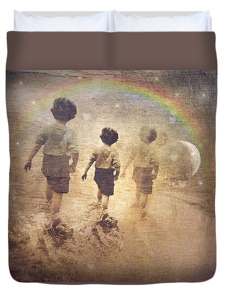 Phases Of The Journey--the Promise Of The Rainbow Duvet Cover