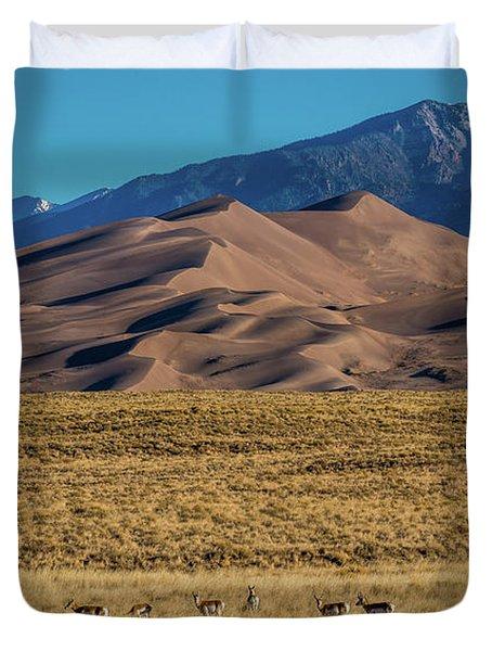 Pronghorn Sunrise Duvet Cover