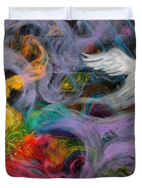 Prophetic Message Sketch Painting 10 Divine Pattern Dove Duvet Cover