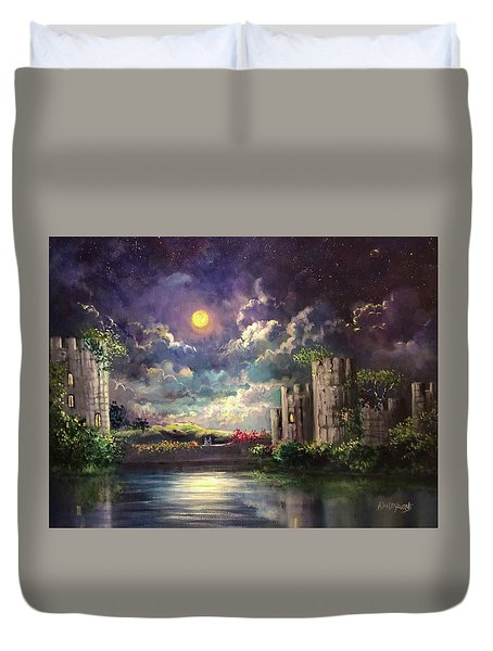 Proposal Underneath The Moon Duvet Cover