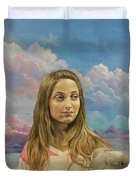 Duvet Cover featuring the painting Prosperata by James Andrews