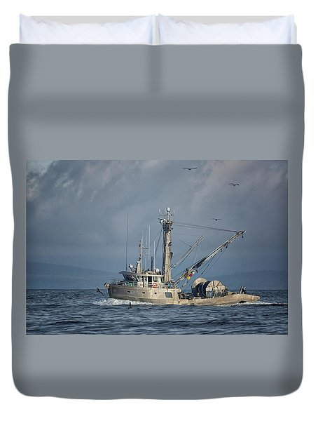Duvet Cover featuring the photograph Prosperity 2 by Randy Hall