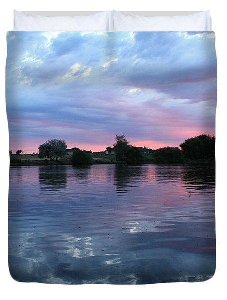 Prosser Pink Sunset 5 Duvet Cover by Carol Groenen