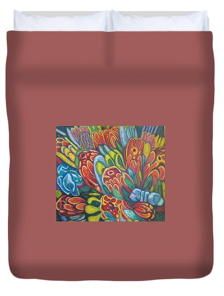 Proteas At Noon 2015 Duvet Cover