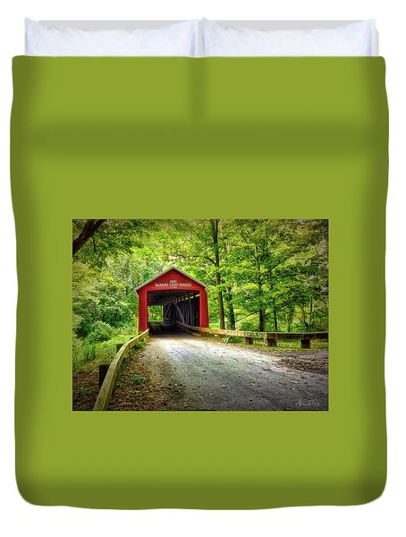 Protected Crossing In Summer Duvet Cover