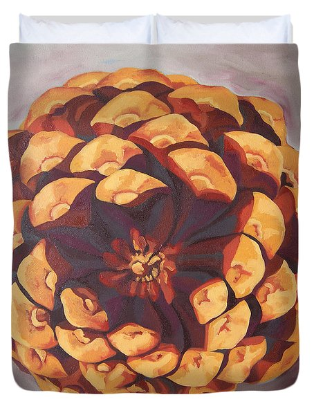 Duvet Cover featuring the painting Protected by Erin Fickert-Rowland