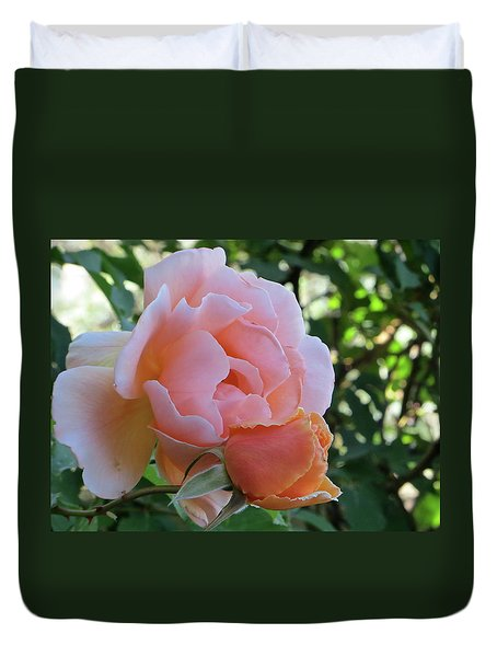 Protective Rose Duvet Cover