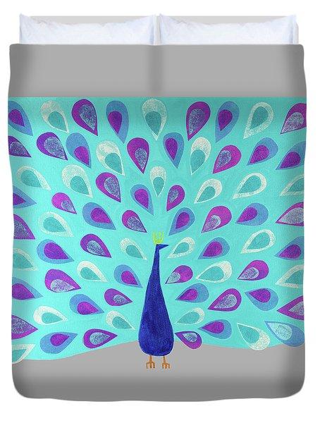 Proud As A Peacock Duvet Cover