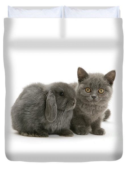Proud Of My Grey Hare Duvet Cover