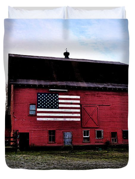 Proud To Be American Duvet Cover by Bill Cannon