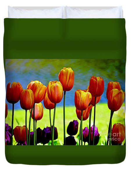 Proud Tulips Duvet Cover