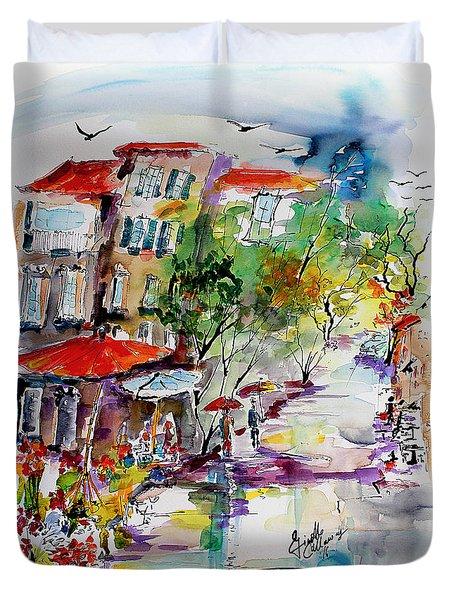 Provence Flower Market Summer Rain Duvet Cover