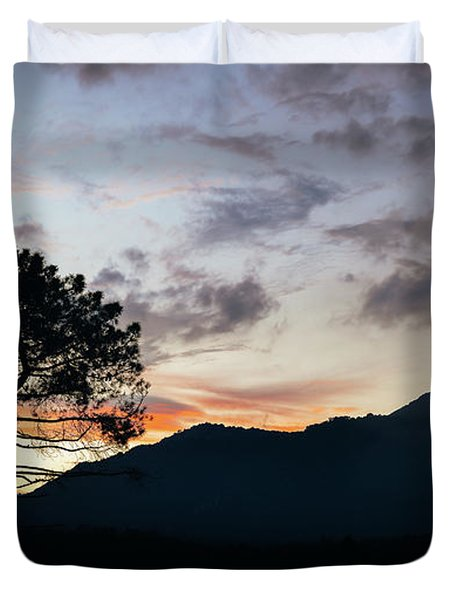 Provence, France Sunset Duvet Cover