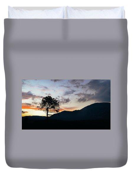 Provence, France Sunset Duvet Cover