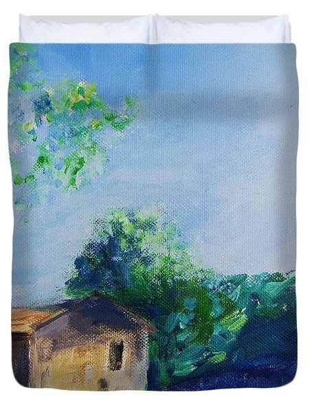 Provence House Duvet Cover by Eric  Schiabor