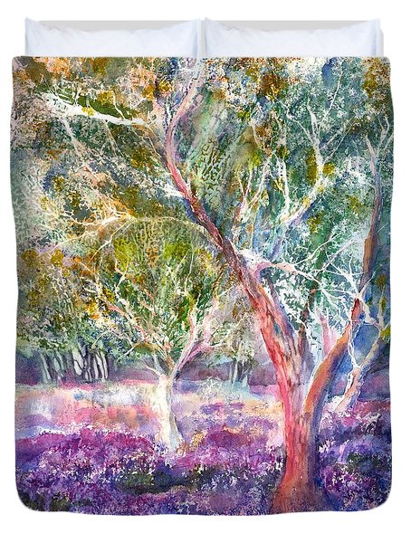 Provence Lavender And Olive Trees Duvet Cover