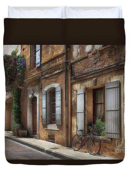 Provence Street Scene Duvet Cover