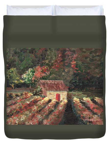 Provence Vineyard Duvet Cover by Nadine Rippelmeyer