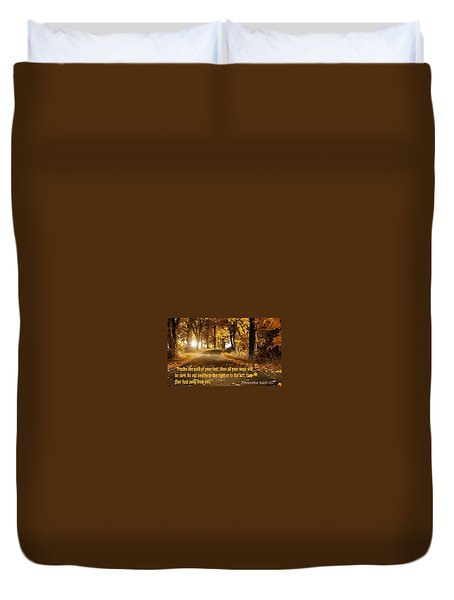 Proverbs104 Duvet Cover by David Norman