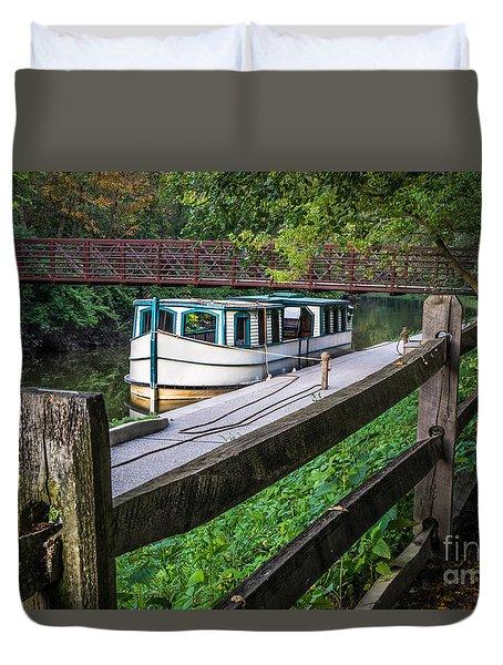 Providence Metropark Erie Canal  Duvet Cover