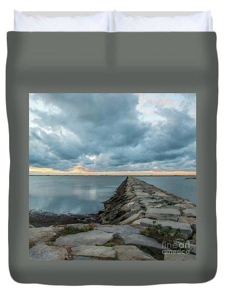 Provincetown Breakwater #3 Duvet Cover
