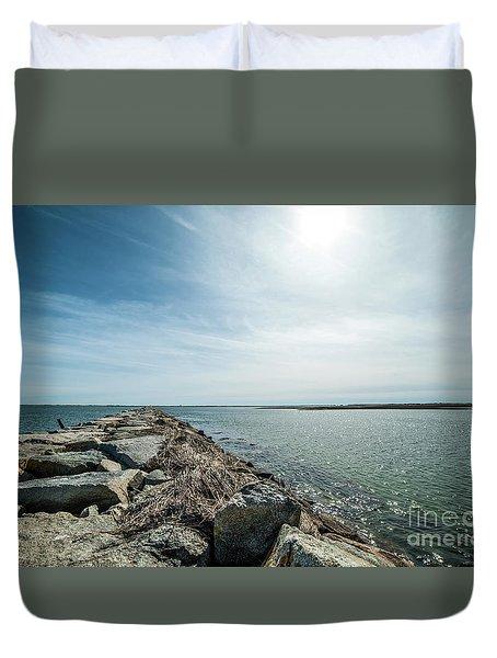 Provincetown Breakwater Duvet Cover